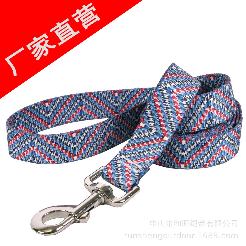 Outdoor Supplies Pet Rope Hot Selling Dog Pulling Rope Printed Hand Holding Rope Small And Medium Pet Nylon Traction Belt