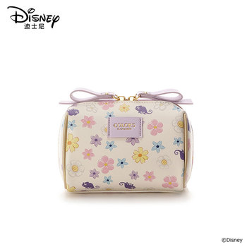 Disney New Rapunzel Cosmetic Bag Waterproof Clutch Travel Cosmetic Bag Zipper Pouch Women Make Up Bag Wash Bag Flowers Princess fashion women cosmetic bag watermelon plush zipper make up pouch bag for travel necessary storage bag