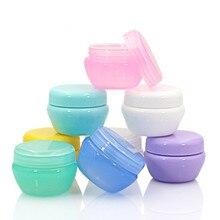 Botellas rellenables de plástico para crema facial, tarro de maquillaje vacío de viaje, loción, contenedor cosmético, Color aleatorio, 5g/10g/20g/30g/50g, 5 uds.