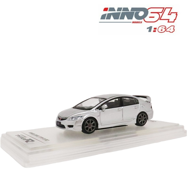 INNO64 1:64 Honda Civic FD2 2007 Silver Diecast Model Car