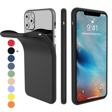 For iPhone 11 Pro Case Silicone Original Candy Color Built-in Velvet Slim Matte Soft TPU Cover Max XI