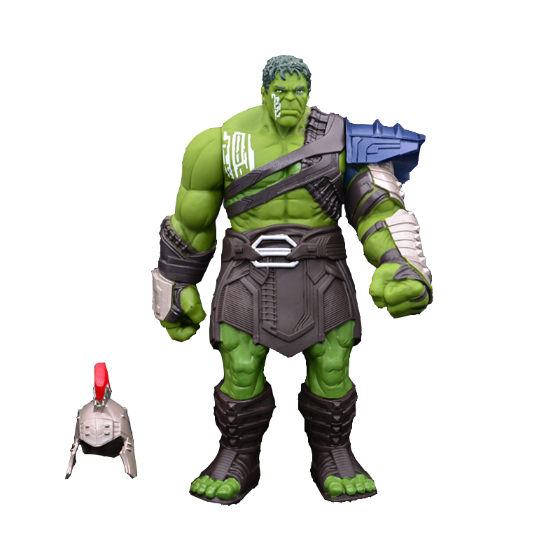 35cm Big Size Hulk BJD Action Figure Model Toy Thor 3 Ragnarok Hands Moveable War Hammer Battle Axe Gladiator