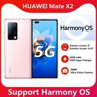 STOCK ! HUAWEI Mate X2 5G SmartPhone 8 Inch Fold Screen OLED Kirin 9000 Octa Core 55W SuperCharge NFC 50MP Main Camera 1
