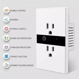 Image 3 - WiFi Smart Electric Wall Socket US Wireless Plug Outlets Touch Panel Control Lights Home Appliances Work with  Alexa Google