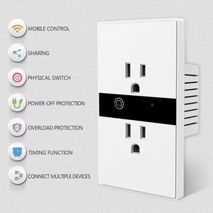 "Image 3 - WiFi חכם חשמלי קיר שקע ארה""ב אלחוטי תקע חנויות מגע לוח בקרת אורות עבודת מכשירי חשמל לבית עם Alexa Google"