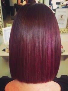 Straight Bob Wigs Lace-Closure Human-Hair 99J EUPHORIA Remy Burg-Color Ombre Brazilian-33