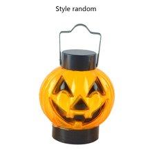 Хэллоуин мобильное лицо Тыква Лампа бар Настольный макет украшение декоративный светильник Led тыква маленькая игрушка