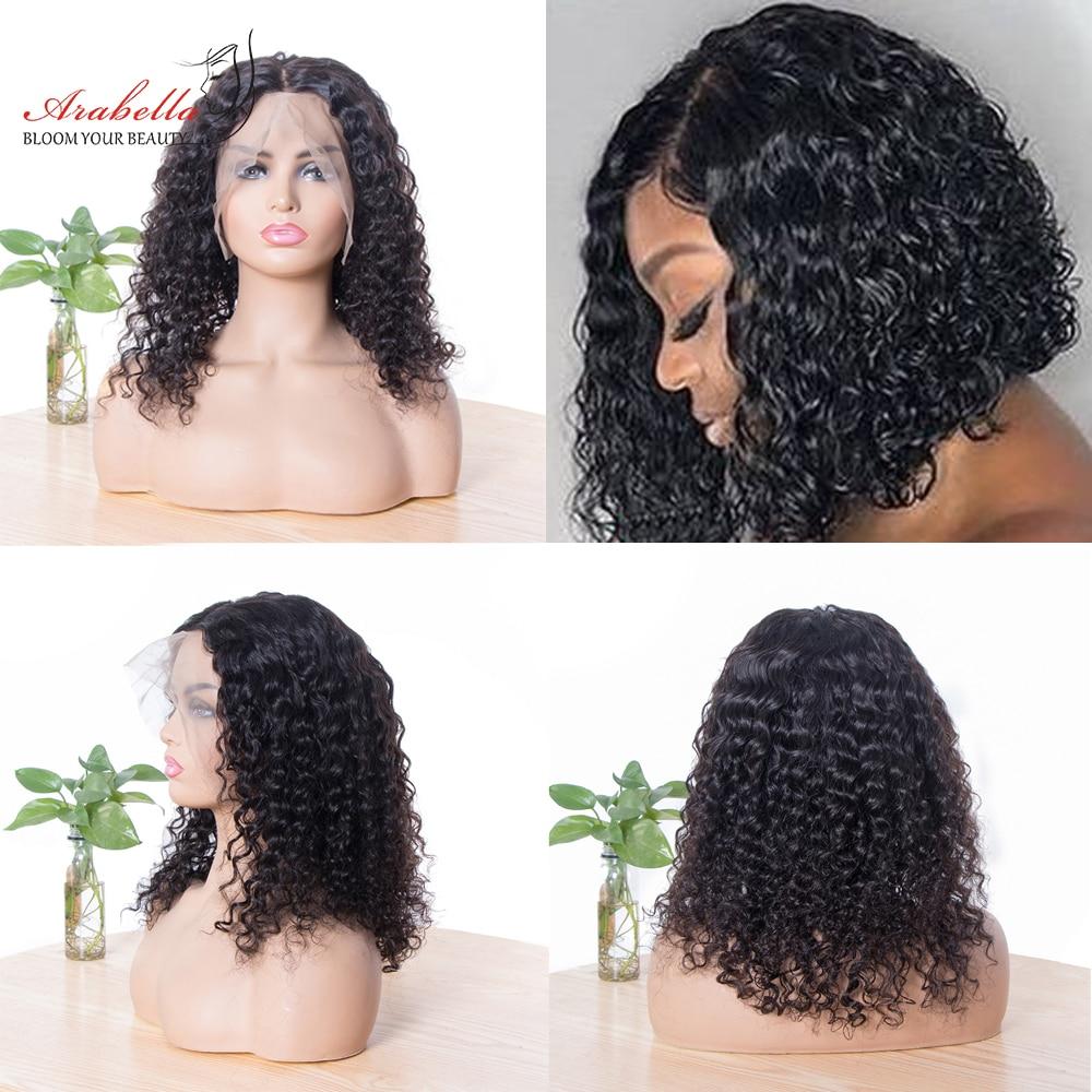 Deep Wave Bob Wig  Hair 180% Density Lace Closure Wig  With Baby Hair 100%  Wigs Bob Deep Curly Arabella 5