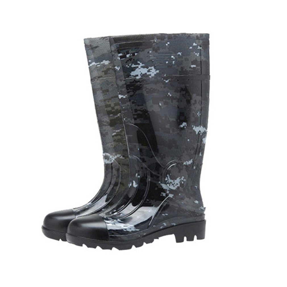 Camouflage Rain Boots Thick Wear Resistant Water Shoes Plus Velvet Rain Boots Site Rain Boots Farm Waterproof Rain Boots|  - title=