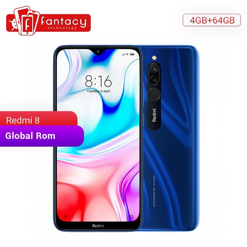 En Stock Rom Global Xiaomi Redmi 8 4GB 64GB Snapdragon 439 Octa Core 12MP double caméra téléphone portable 5000mAh grande batterie OTA