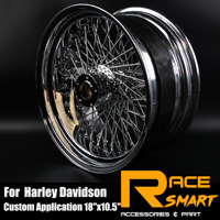 18x8.5Chrome Rear Wheel Rims For Harley Davidson FLSTC FAT BOY Motorcycle Replacement Accessories Modification Wheel Rims