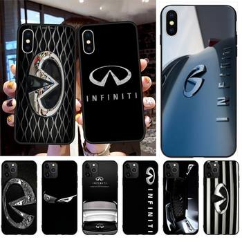 HPCHCJHM Fashion Super Car Infiniti Logo Phone Case for iPhone 11 pro XS MAX 8 7 6 6S Plus X 5S SE 2020 XR case image