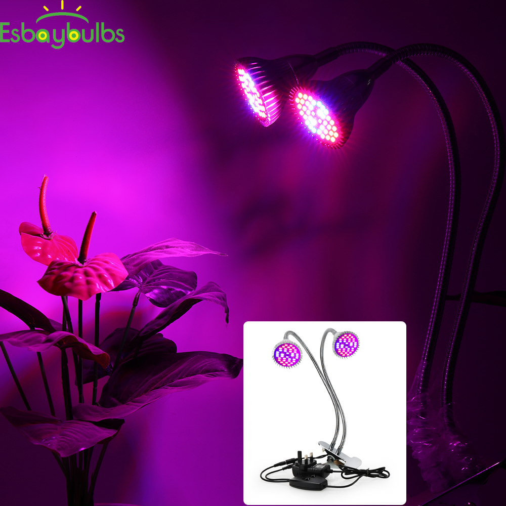 36W LED Grow Light Bulb LED Plant Lamp Garden Greenhouse Hydroponics Plant Seedling Growing Light Plant Grow Light Bulb Dual