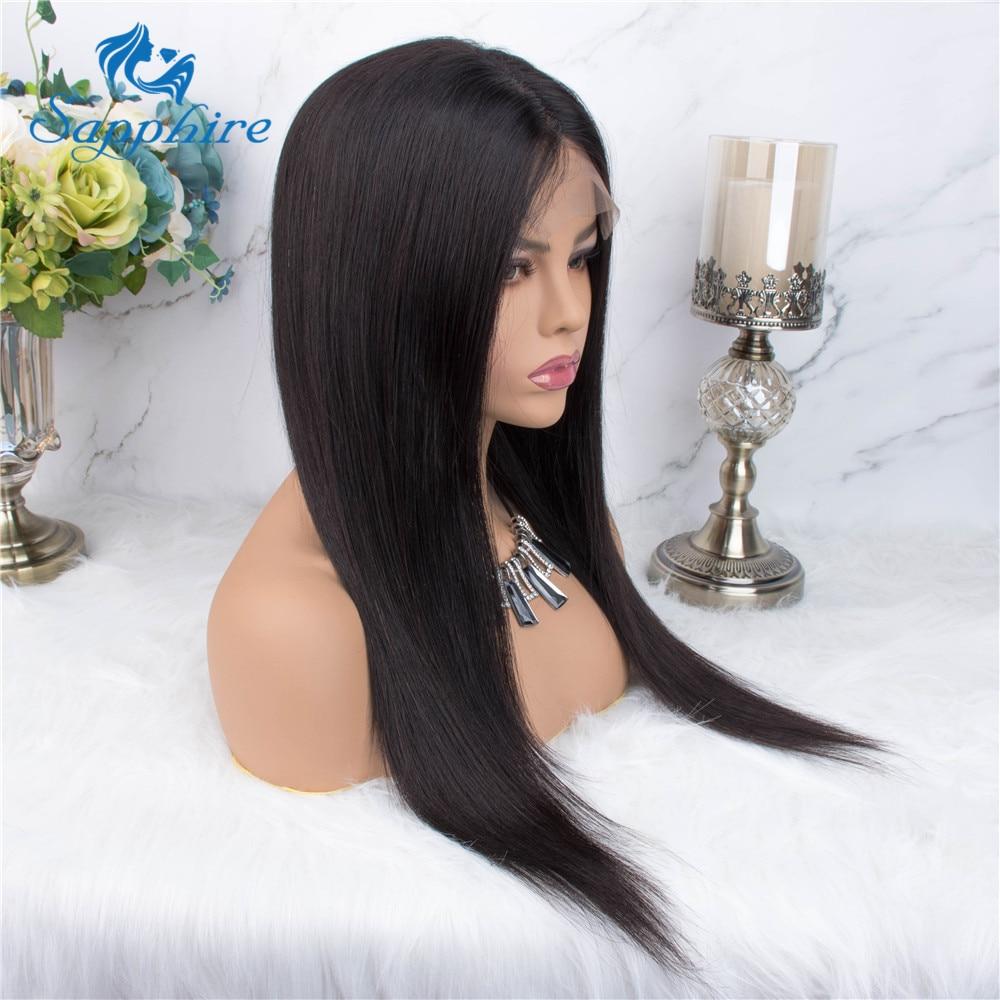H621b30e19eef4b31b6be2966ea966d84J Sapphire Straight Hair Brazilian Lace Wig 4*4 Lace Closure Wig Human Hair Wigs Straight Preplucked Brazilian Human Hair Wigs
