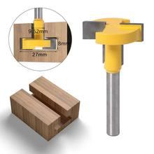 6mm vástago T-Ranura T-Pista Router de ranuras poco para cortador de cincel para trabajos en madera herramienta de Venta caliente