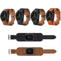 22mm Genuine Leather Watch Band for Fossil Galaxy Gear S3 amazfit Huawei GT 2E Honor GS Pro Wristband Tray Bracelet Belt Strap