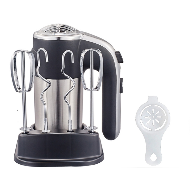 Electric Handheld Mixer Power Whisk with Heavy Duty Motor Egg Beater Multipurpose Beat Egg Whites Whipped Cream Baking