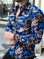 Мужская рубашка с рисунком, плотная рубашка на каждый день 1