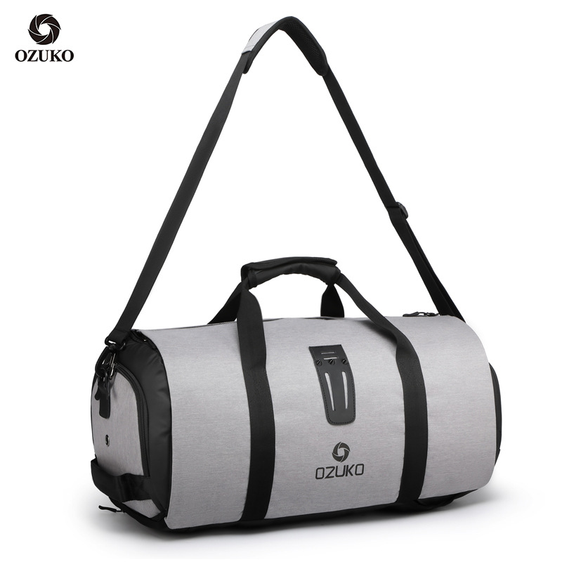 OZUKO Brand Men Travel Bags Multifunctional Luggage Bag Large Capacity Duffle Bag For Trip Male Suit Storage With Shoes Pouch