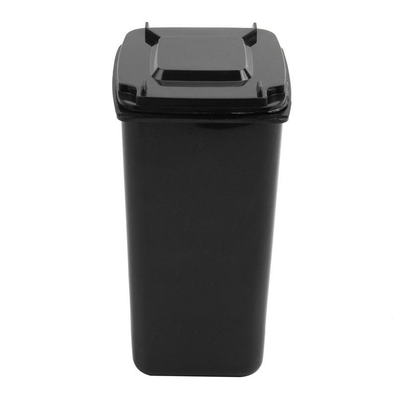 Mini Wheelie Bin Novelty Desk Tidy Desktop Stationery Organiser Pen Pot Holder Color:Black Size: 16 * 10.5 * 8cm