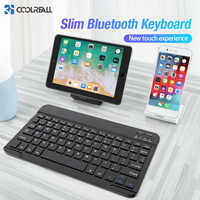 Clavier sans fil Coolreall pour IOS Ipad tablette Android Windows clavier Bluetooth clavier Ipad Bluetooth pour iPhone Samsung
