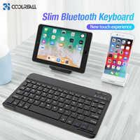 Teclado inalámbrico Coolreall para IOS Ipad tableta Android teclado Bluetooth Windows teclado Bluetooth Ipad teclado para iPhone Samsung