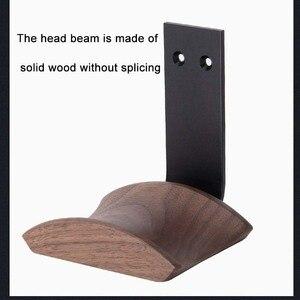 Image 4 - JINSERTA Wooden Headphones Stand Holder Aluminum Alloy Desk Lock Clip Headphone Bracket Easy Install Headset Display Hanger
