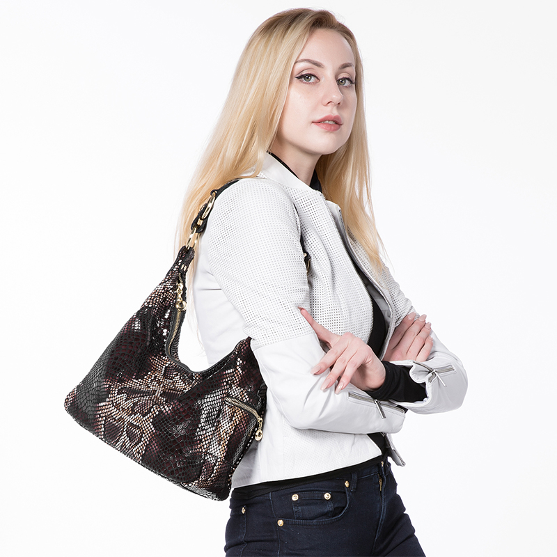 Woman handbags genuine leather tote female classic serpentine prints classic shoulder bag 1