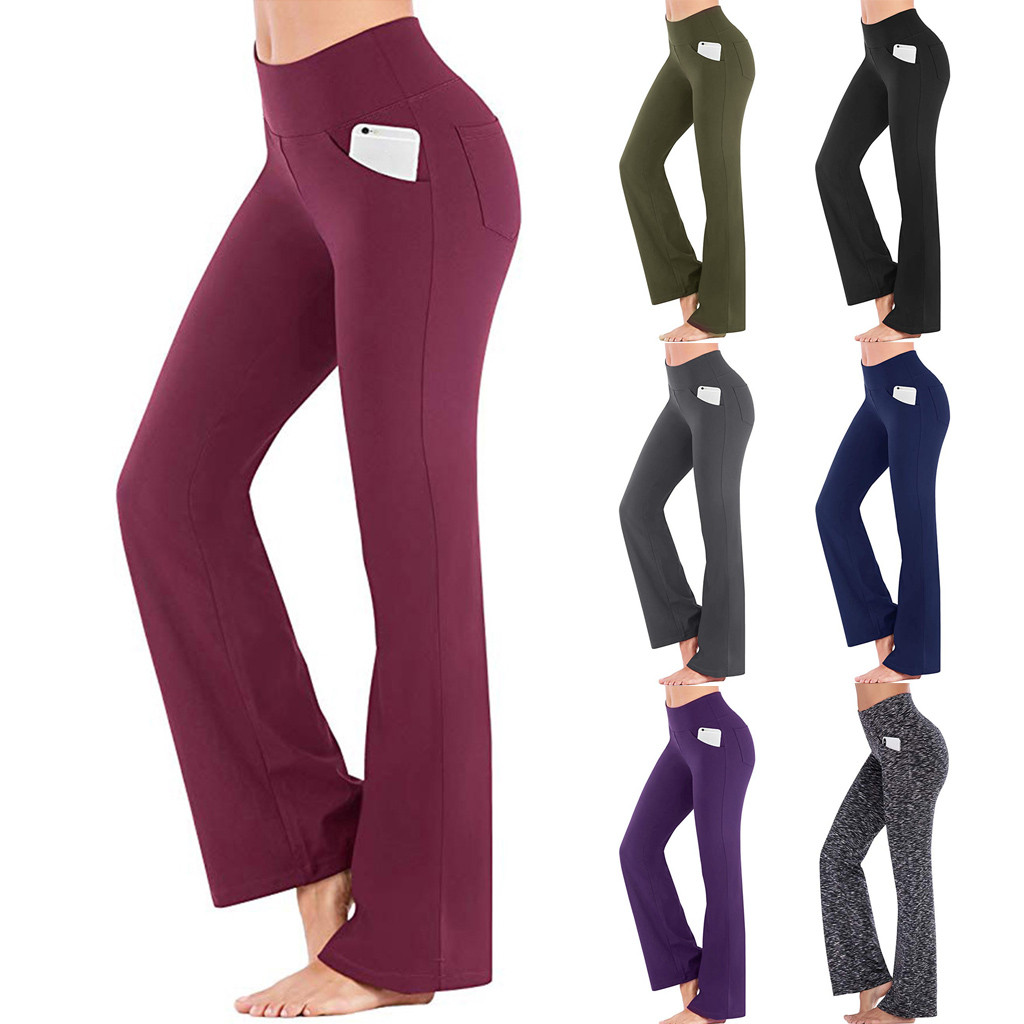 Women Leggings High Waist Elasticity Leggings Fitness Workout Out Pocket Leggings Fitness Sports Gym Running Athletic Pants ##4