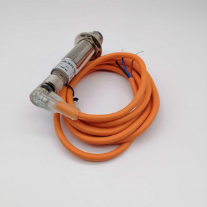 Image 4 - Diffuse Type Photoelectric Sensor NPN 30cm Adjustable Sensing Detect Distance M18 with bend mask machine  LED Switch Connector