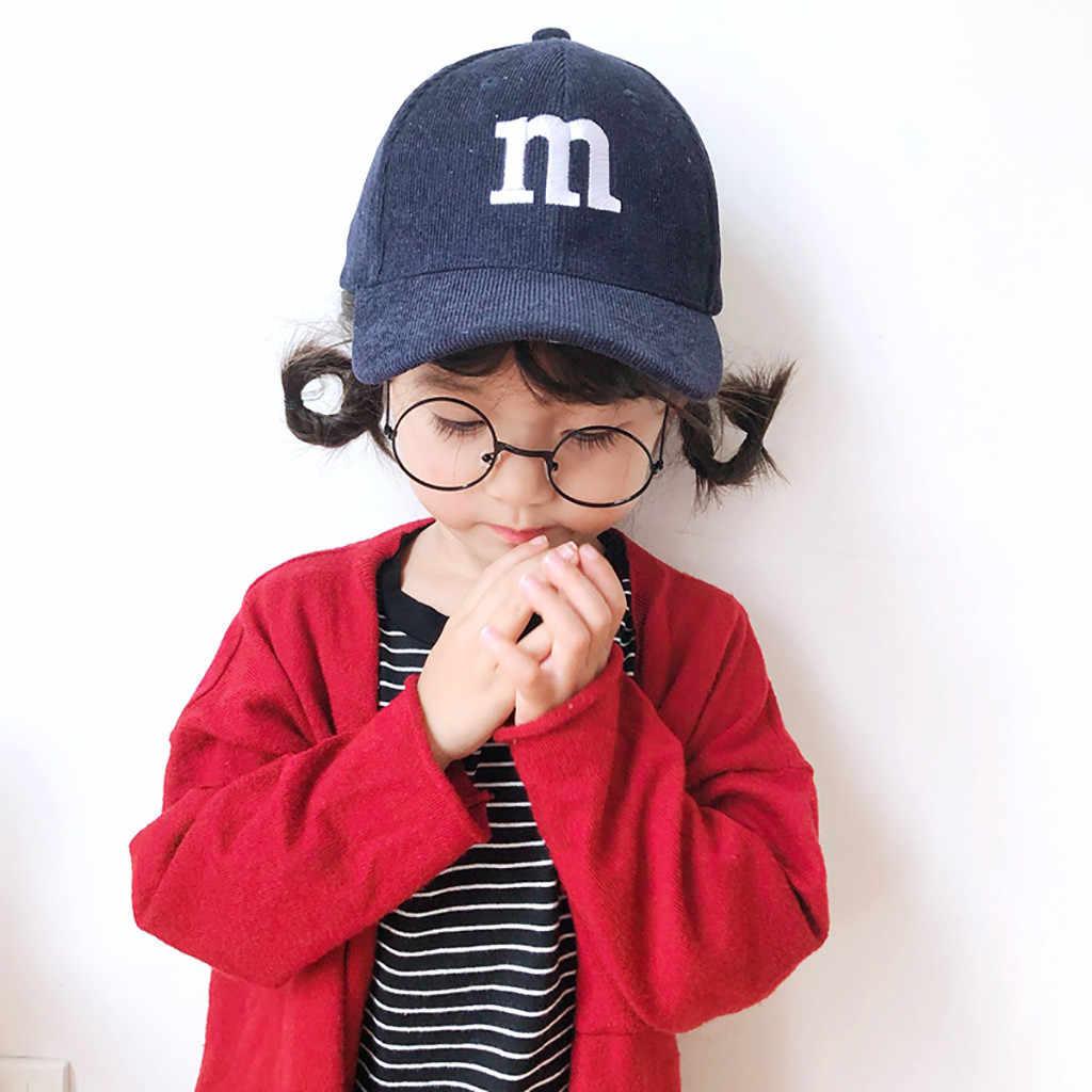 Модная однотонная коллекция 2019 года, зимняя детская Вельветовая бейсболка для малышей, Повседневная Бейсболка с буквенным принтом в стиле хип-хоп, уличная бейсболка s