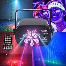 129 padrões usb recarregável led laser projetor luzes rgb uv dj som festa de discoteca luz para festa aniversário casamento dj quarto