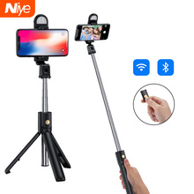 Bluetooth Selfie Stick Tripod Remote Control Tripods Selfie Stand Adjustable Phone Selfies Holder for Photo Live Video Record