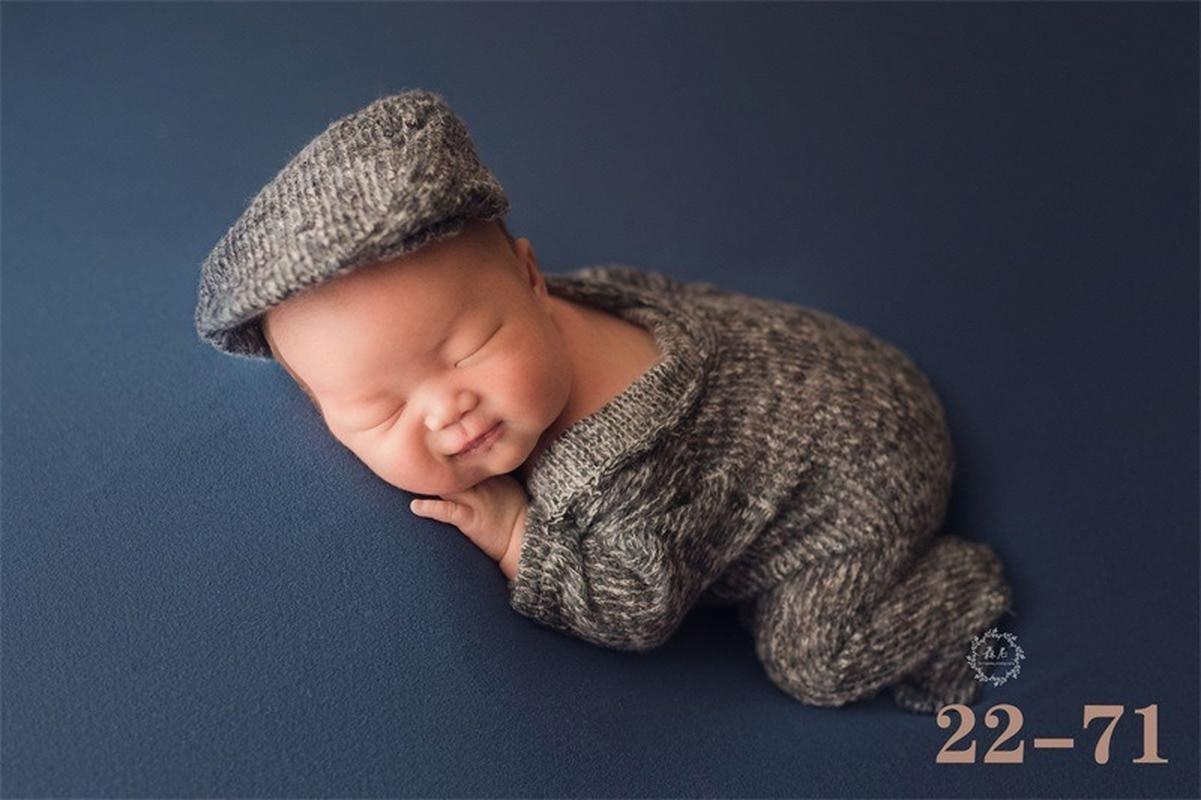 2Pcs Newborn Baby Photography Props Knit Outfits Bonnet Set Fotografia Accessories Studio Shoot Photo Props