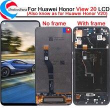 Tela lcd original para huawei honor view, display lcd, touch screen, digitalizador, montagem para honor v20, display lcd com moldura + ferramentas