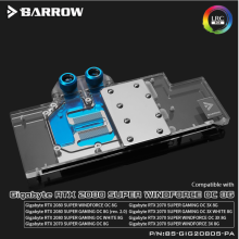 Water-Block Barrow Rtx 2080 Gigabyte Super-Gaming Full-Coverage BS-GIG2080S-PA for Aurora