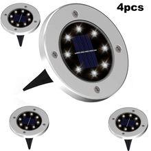 4 8 шт солнечный светильник s светодиодный на солнечной батарее