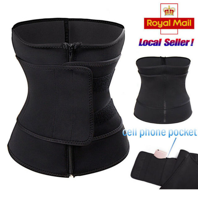 Waist Trainer Zipper Hook Body Shaper Men Women Trimmer Tummy Slimming Belt Shapewear Sport Unisex Corset S-3XL 1