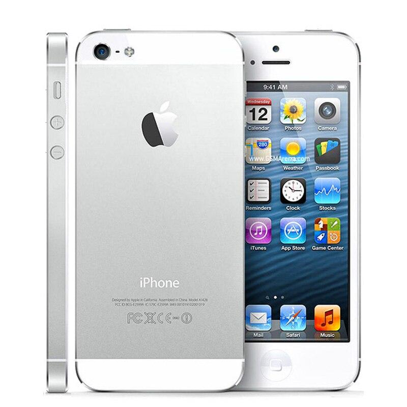 Оригинальный iPhone 5 разблокированный мобильный телефон 16 Гб/32 ГБ/64 Гб ПЗУ двухъядерный 3g 4,0 дюйма 8MP камера iCloud wifi gps IOS OS сотовые телефоны - 4