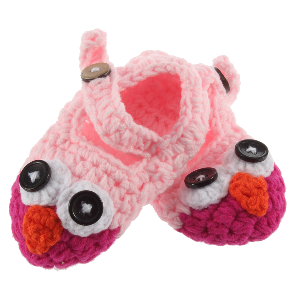 Baby Shoes Cute Handmade Newborn Baby Infant Crochet Knit Owl Shoes Booties Photograph Gift