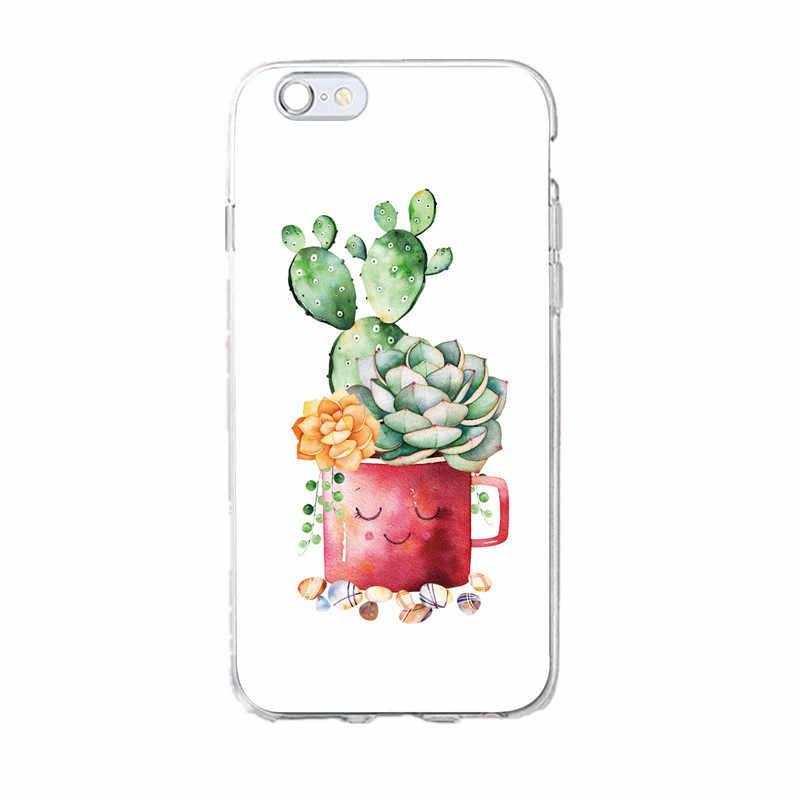 のための超薄型夏の植物葉グリーン電話 Cas iphone X XS 7 7 プラス 6 6 S 8 8 プラスクールソフト裏表紙シェル 6 S