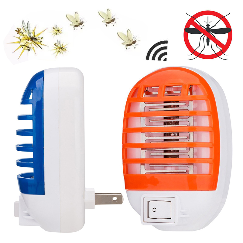 New Mosquito Killing Lamps LED Electric Mosquito Fly Bug Insect Trap Zapper Killer UV Night Lamp US Plug Random Color