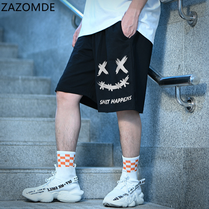 ZAZOMDE 2021 Men Fashion Casual Shorts New Male High Quality Casual Short Men Comfortable Streetwear Elastic Band hip hop Short