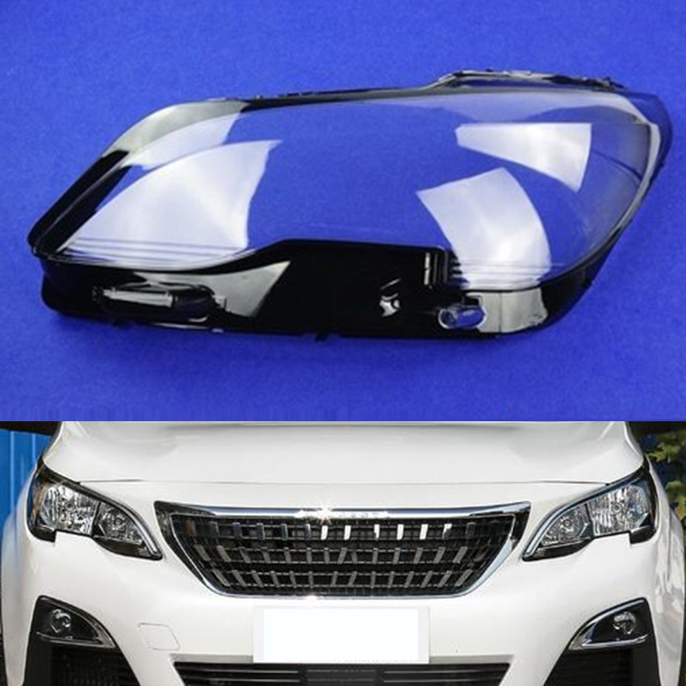 Car Headlamp Lens For <font><b>Peugeot</b></font> <font><b>4008</b></font> <font><b>2016</b></font> 2017 2018 2019 Headlight Cover Car Replacement Lens Auto Shell Cover image