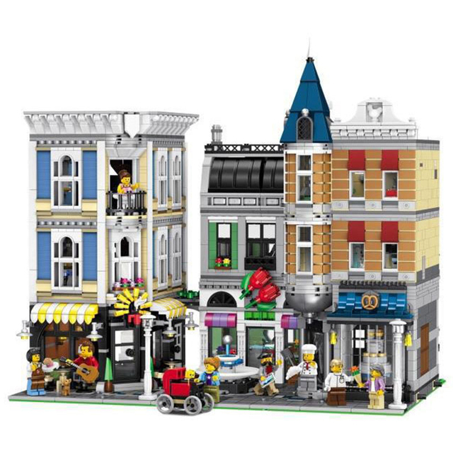 15019 4002pcs 30019 MOC Creative Series The Assembly Square Set Building Blocks Bricks Toys Small piece 10255 kids gifts