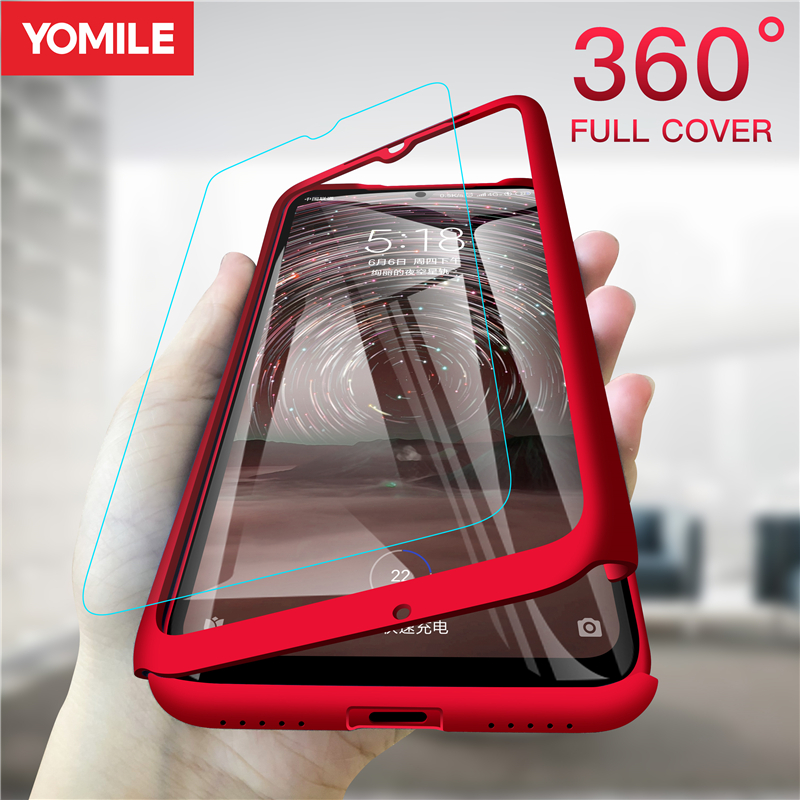 360 Full Protective Case For Samsung Galaxy S6 S7 Edge S8 S9 Plus S10 5G Note 8 9 S A6 A8 A9 A7 2018 A70 A50 A40 A30 Glass Cover