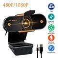 480 720 1080 P 2k HD веб-Камера 5 миллионов Пиксели HD веб-камера USB 2,0 Автофокус видео звонок с микрофоном для портативного компьютера