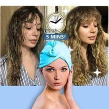 Горячая Распродажа шапочка для душа из микрофибры банное полотенце для волос быстросохнущее дамское банное полотенце Мягкая шапочка для душа шляпа для Дамский тюрбан