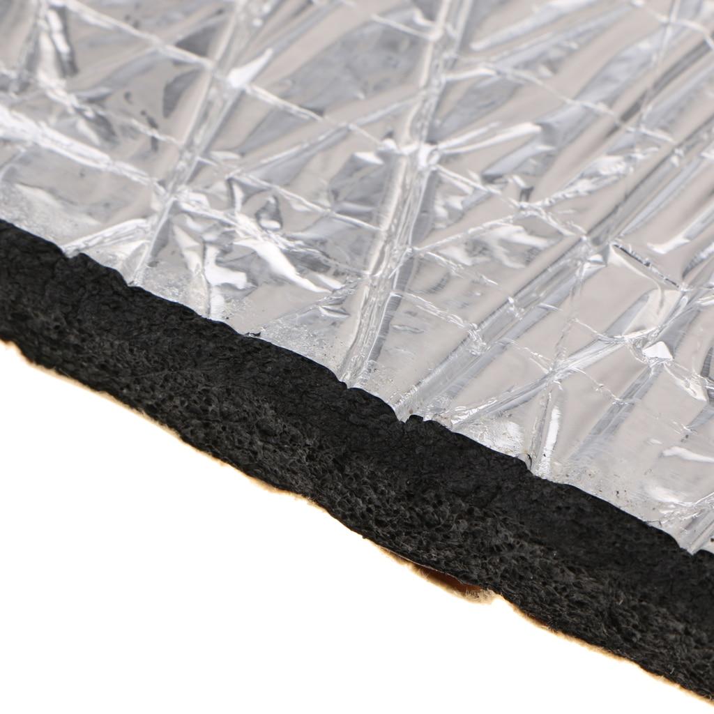 40x40 ''tapis de sous-couche d'isolation de réducteur de chaleur de porte de capot de voiture