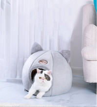 Pet dog cat bed kennel winter warm nest soft foldable sleeping pad cushion cotton puppies cat bed kennel house pet supplies jiahui a038 detachable cotton fabric sponge pet dog cat house kennel red white grey